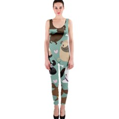 Dog Pattern Onepiece Catsuit