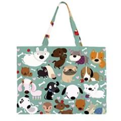 Dog Pattern Large Tote Bag