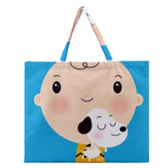 Snoopy Zipper Large Tote Bag