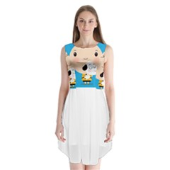 Snoopy Sleeveless Chiffon Dress