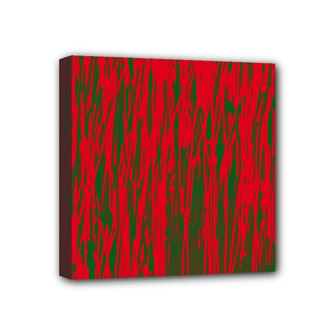 Red and green pattern Mini Canvas 4  x 4