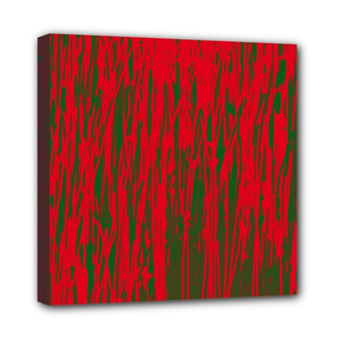Red and green pattern Mini Canvas 8  x 8