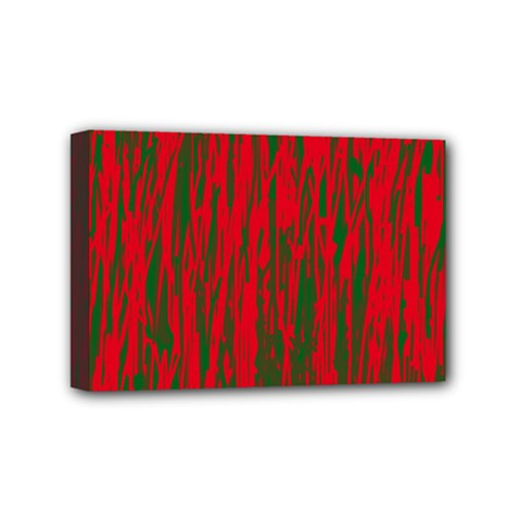 Red and green pattern Mini Canvas 6  x 4