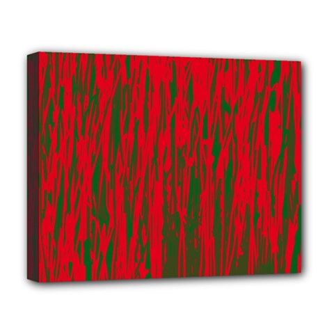 Red and green pattern Deluxe Canvas 20  x 16