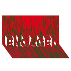 Red and green pattern ENGAGED 3D Greeting Card (8x4)