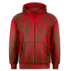 Red and green pattern Men s Zipper Hoodie