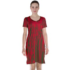 Red and green pattern Short Sleeve Nightdress