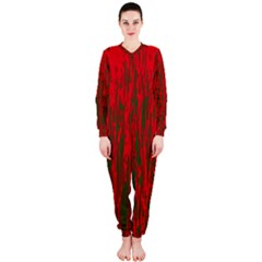 Red and green pattern OnePiece Jumpsuit (Ladies)