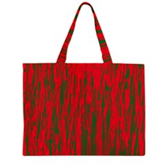 Red and green pattern Large Tote Bag
