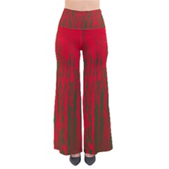 Red and green pattern Pants