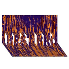 Blue and orange pattern BEST BRO 3D Greeting Card (8x4)