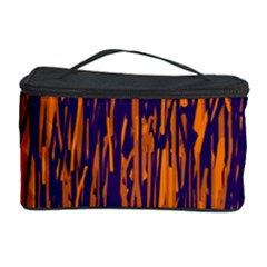 Blue and orange pattern Cosmetic Storage Case