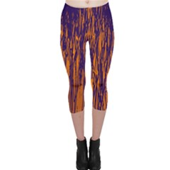 Blue and orange pattern Capri Leggings