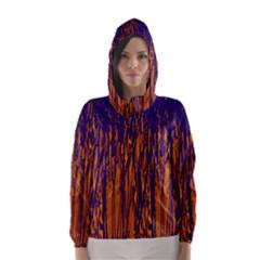 Blue and orange pattern Hooded Wind Breaker (Women)