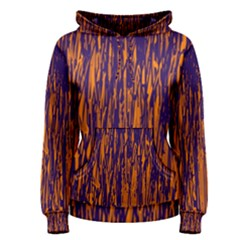 Blue and orange pattern Women s Pullover Hoodie