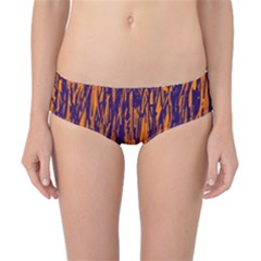 Blue and orange pattern Classic Bikini Bottoms