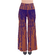 Blue And Orange Pattern Pants