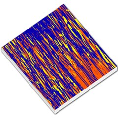 Orange, blue and yellow pattern Small Memo Pads