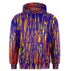 Orange, blue and yellow pattern Men s Pullover Hoodie