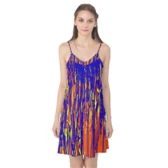 Orange, blue and yellow pattern Camis Nightgown