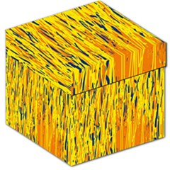 Yellow pattern Storage Stool 12