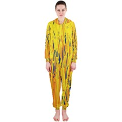 Yellow pattern Hooded Jumpsuit (Ladies)