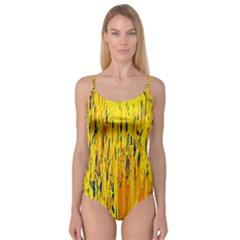 Yellow pattern Camisole Leotard