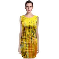 Yellow pattern Classic Sleeveless Midi Dress
