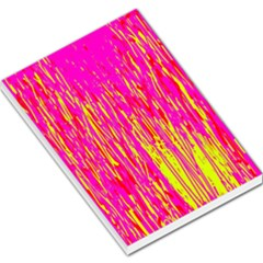 Pink and yellow pattern Large Memo Pads