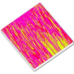 Pink and yellow pattern Small Memo Pads