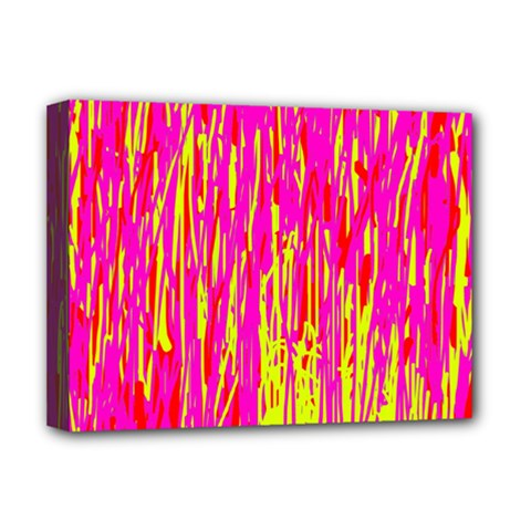 Pink and yellow pattern Deluxe Canvas 16  x 12