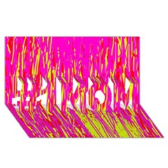 Pink And Yellow Pattern #1 Mom 3d Greeting Cards (8x4)