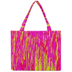 Pink and yellow pattern Mini Tote Bag