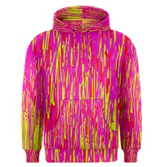 Pink and yellow pattern Men s Pullover Hoodie