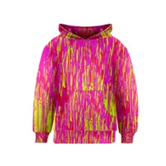 Pink and yellow pattern Kids  Pullover Hoodie