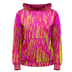 Pink and yellow pattern Women s Pullover Hoodie