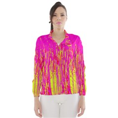 Pink and yellow pattern Wind Breaker (Women)