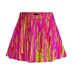 Pink and yellow pattern Mini Flare Skirt