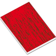 Decorative red pattern Large Memo Pads