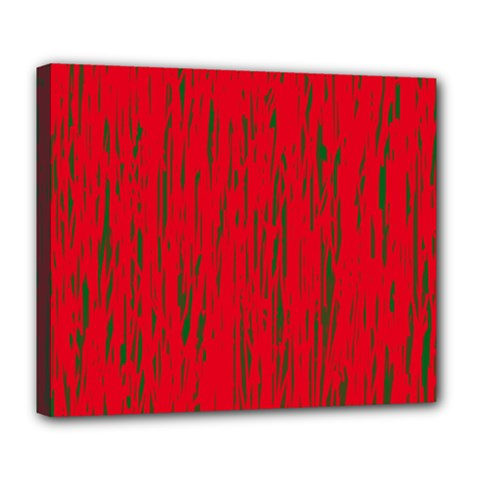 Decorative red pattern Deluxe Canvas 24  x 20