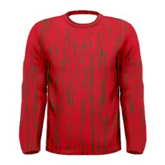 Decorative red pattern Men s Long Sleeve Tee