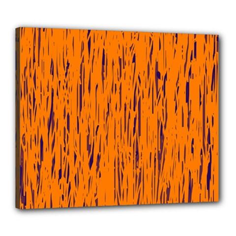Orange pattern Canvas 24  x 20