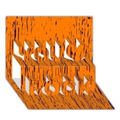 Orange Pattern You Rock 3d Greeting Card (7x5)