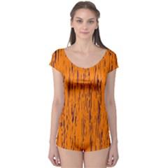 Orange pattern Boyleg Leotard