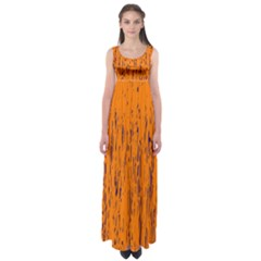 Orange Pattern Empire Waist Maxi Dress