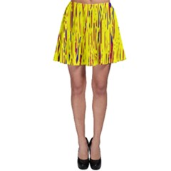 Yellow pattern Skater Skirt