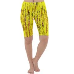 Yellow pattern Cropped Leggings