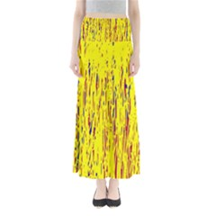 Yellow pattern Maxi Skirts