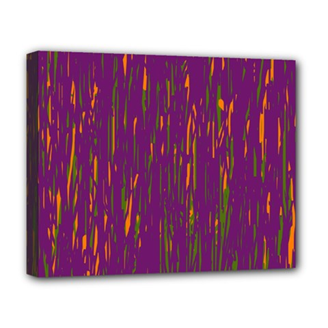 Purple pattern Deluxe Canvas 20  x 16