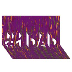 Purple pattern #1 DAD 3D Greeting Card (8x4)